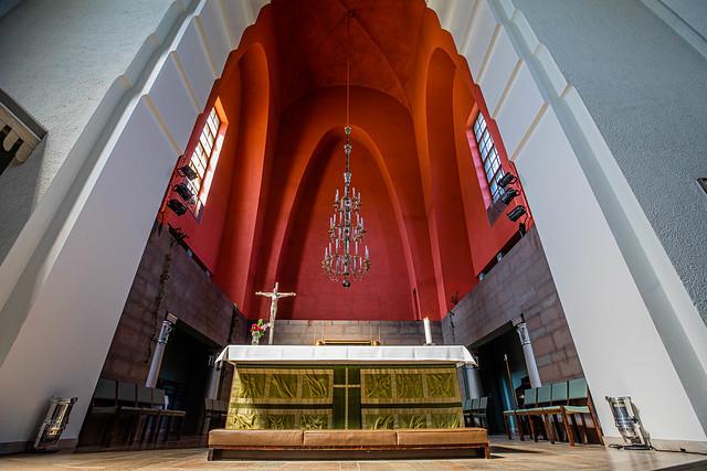 Modernist Lutheran Agricola Church in Helsinki Finland
