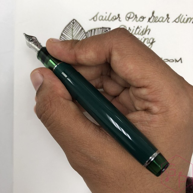 Sailor Pro Gear Slim British Racing Green Fountain Pen for Goldspot Pens 14