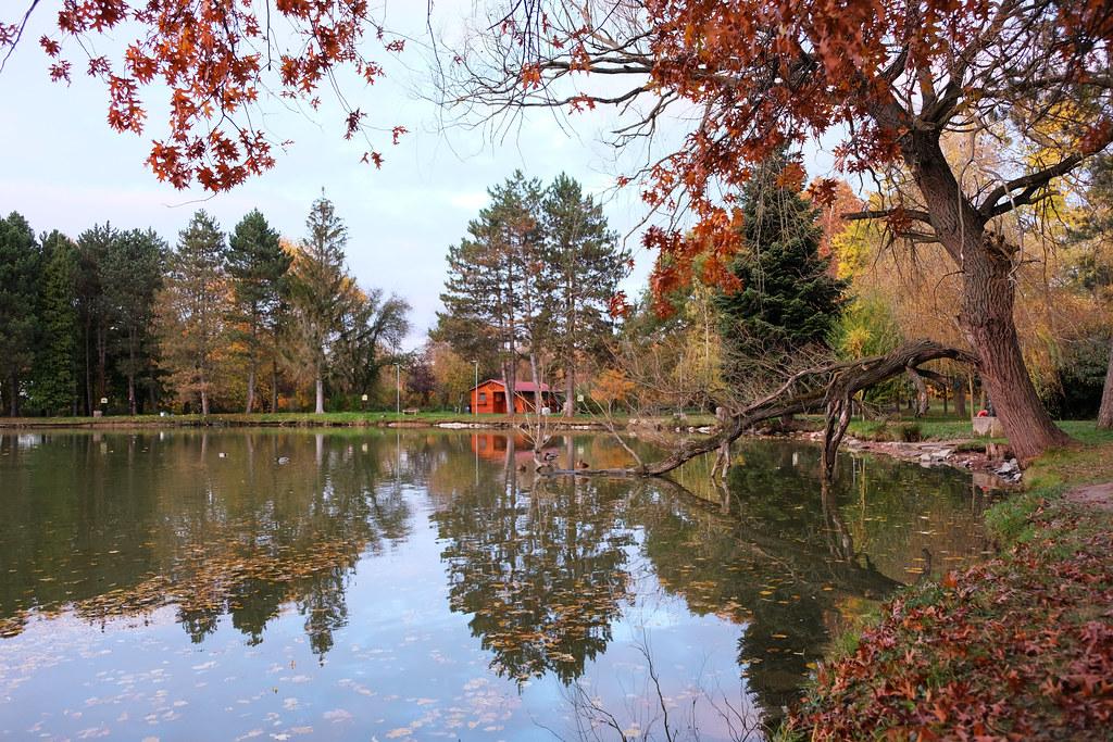 Fall at Csónakázó-tó in Kőszeg, Hungary