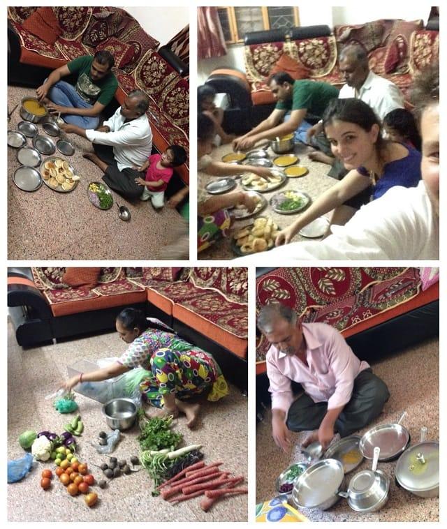 földön evés indiai családdal_ hulladékmentes utazás