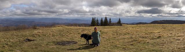 Kelli & Ella Lewis, Huckleberry Knob, Cherohala National Forest, Graham County, North Carolina
