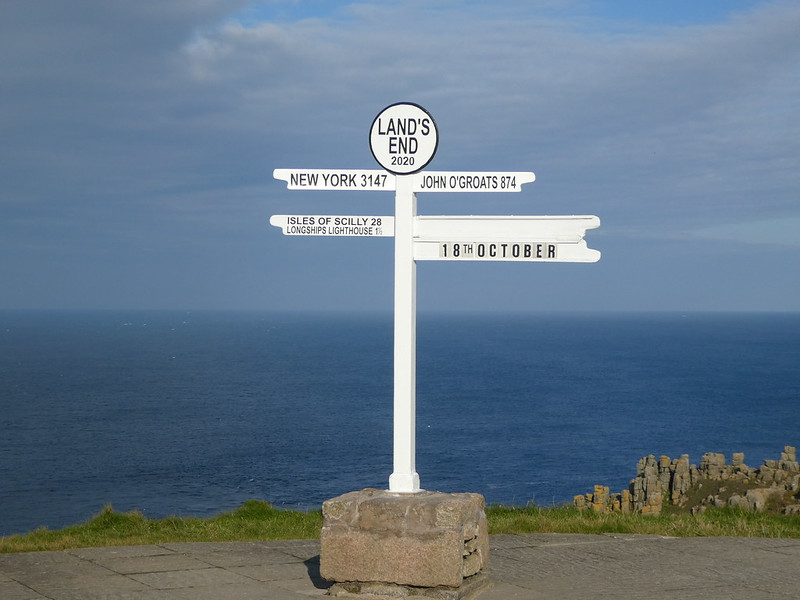 The iconic Land's End signpost