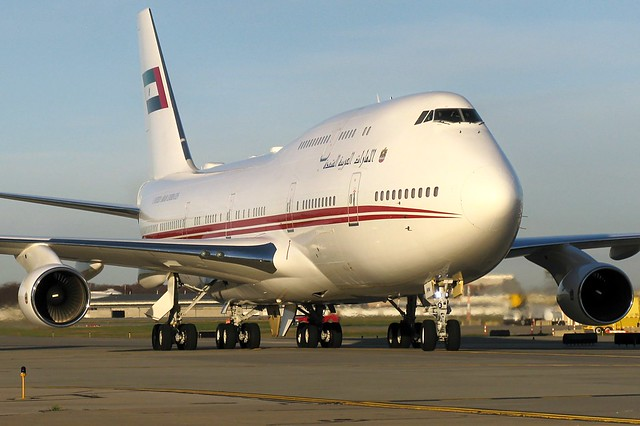 A6-HRM United Arab Emirates 747-422 at KCLE