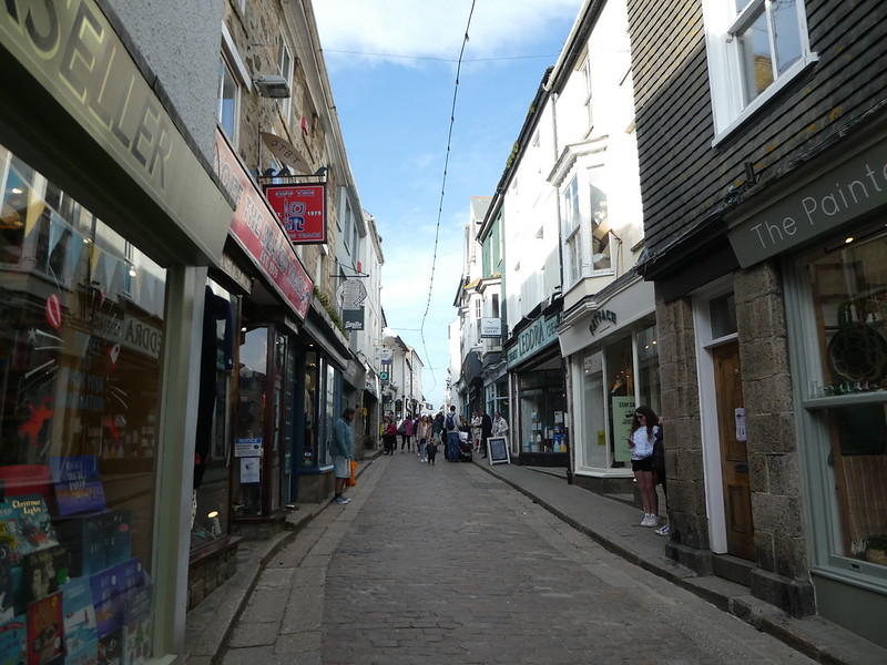 Narrow streets in St. Ives, Cornwall