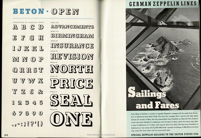 Bauer Beton - typeface synopsis booklet issued by Soldans Ltd., London, nd [c1936?]