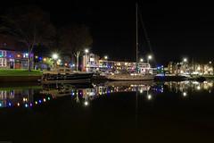 Medemblik harbour by night