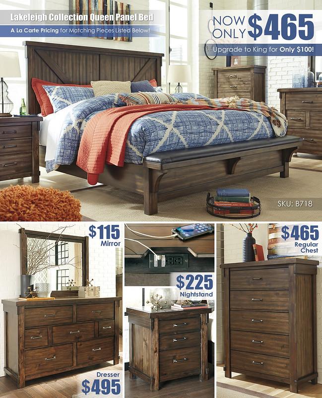 Lakeleigh Queen Bed Layout A la Carte_Regular Chest_B718-158-MOOD-H-B