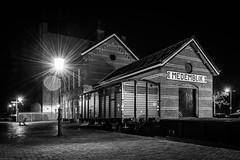 Medemblik railway station by night