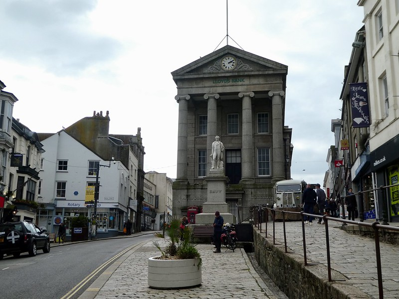 The historic Market & Guildhalls in Penzance