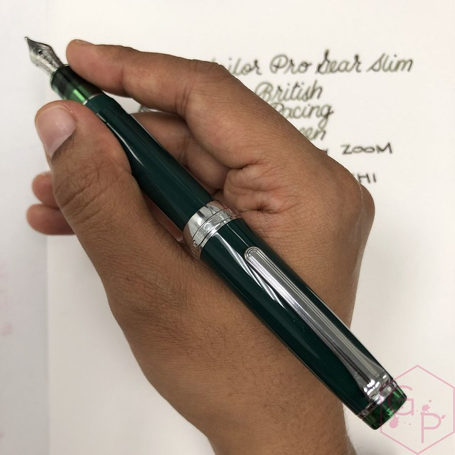Sailor Pro Gear Slim British Racing Green Fountain Pen for Goldspot Pens 15