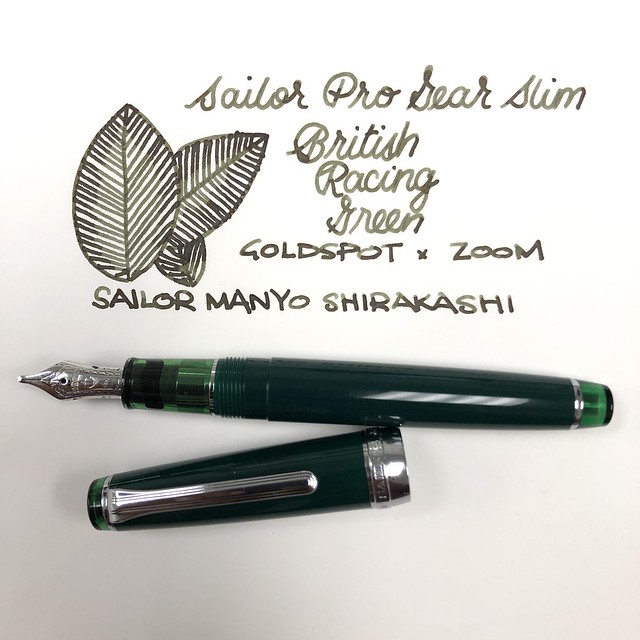 Sailor Pro Gear Slim British Racing Green Fountain Pen for Goldspot Pens 13