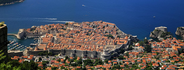 A bird's-eye view of Dubrovnik - Croatia