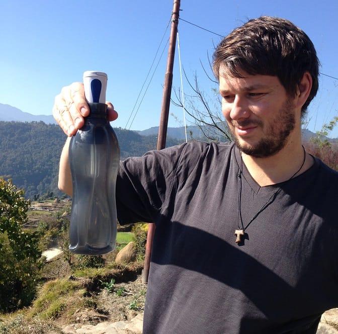 hulladékmentes utazás_víztisztítás Nepálban a hegyeben
