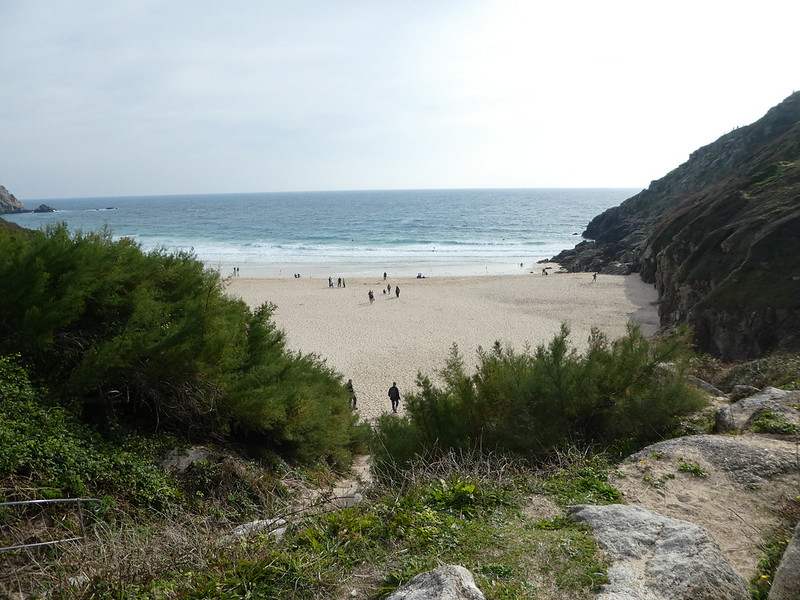 Porthcurno beach taken from near the Cable Hut
