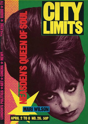 City Limits no. 26 2 to 8 April 1982 Photograph of the singer Mari Wilson Cover design: David King