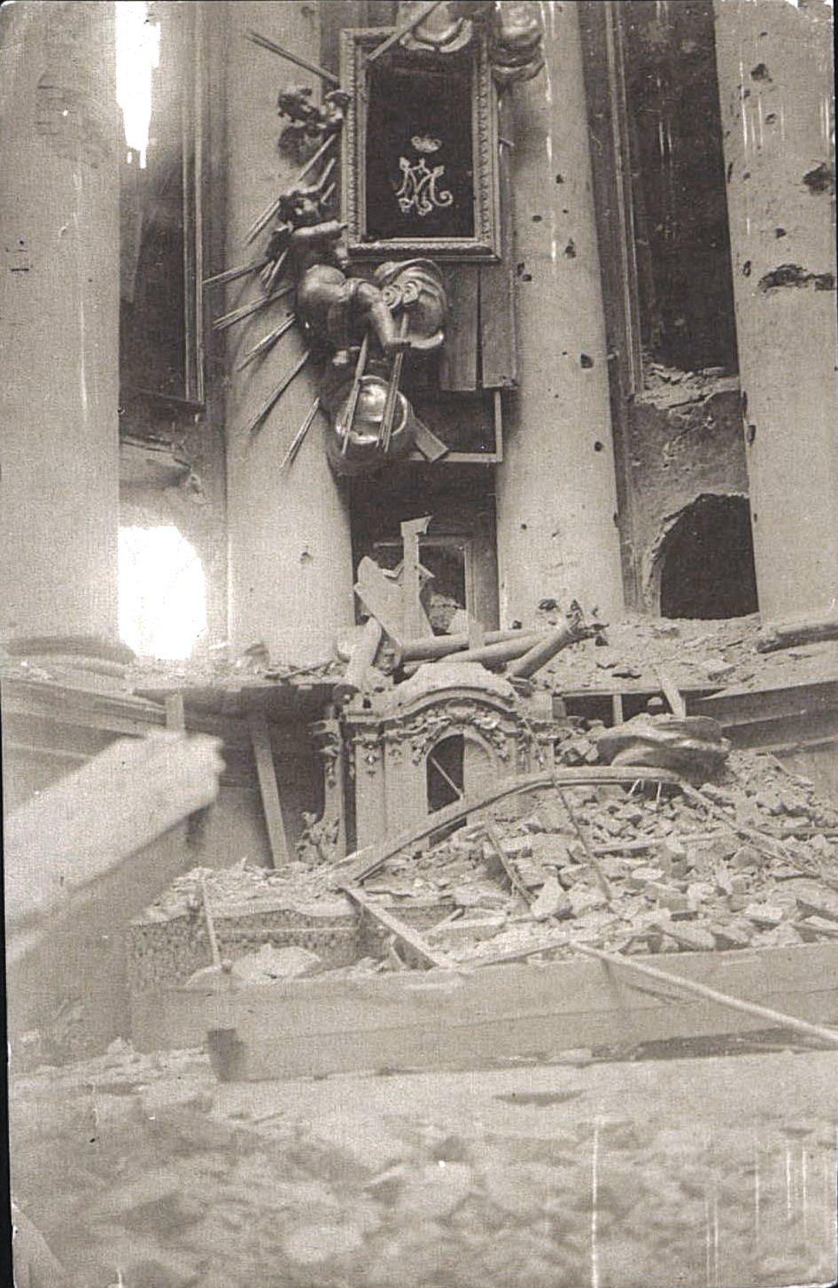 1914. Костёл, разрушенный немцами в начале I Мировой войны.Ракитское  (6)