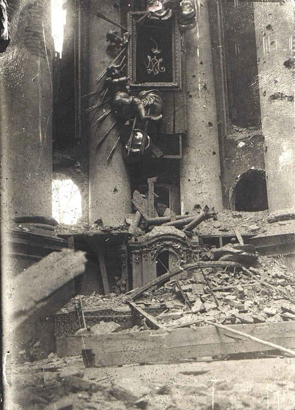 1914. Костёл, разрушенный немцами в начале I Мировой войны.Ракитское  (4)