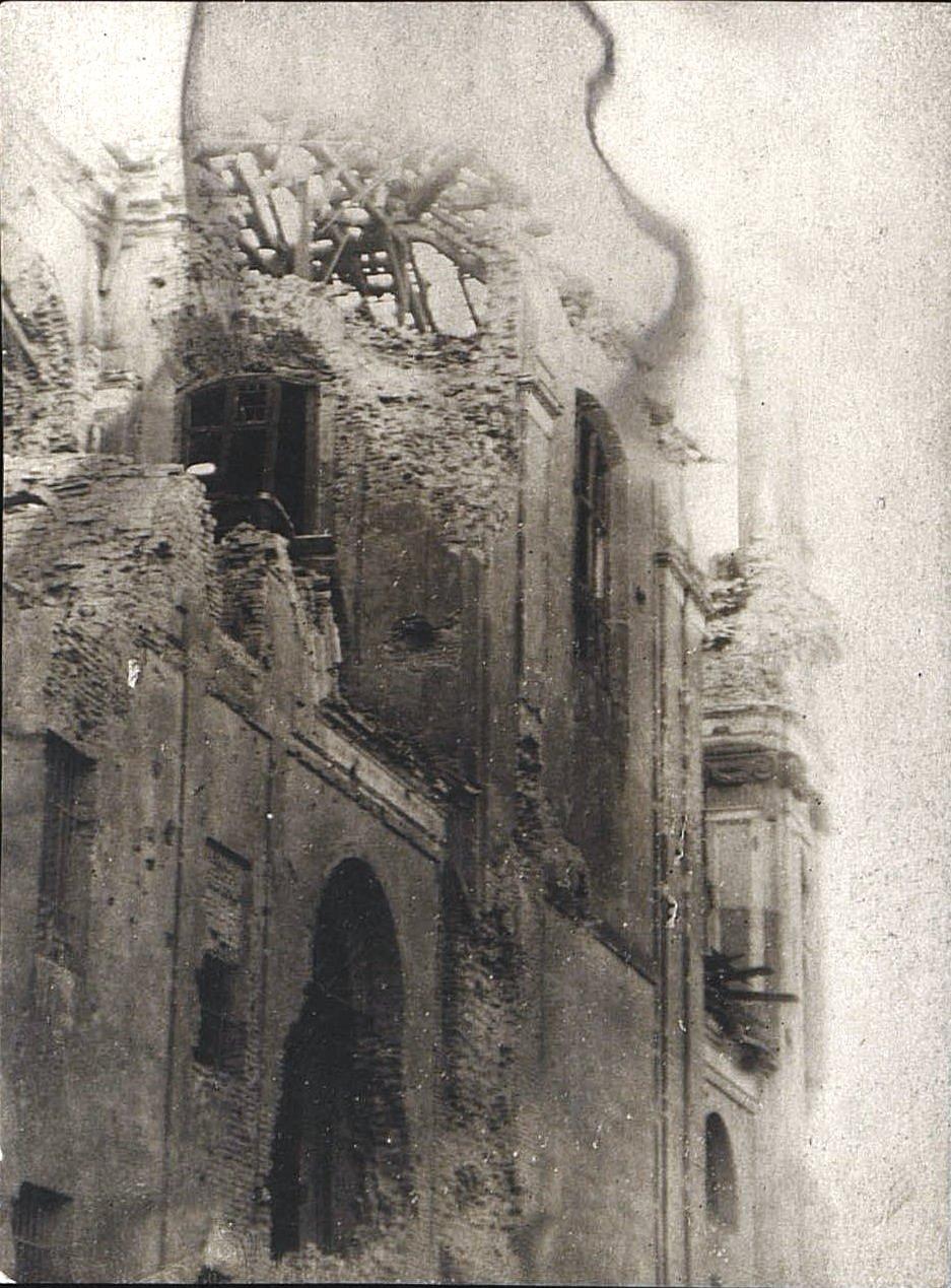 1914. Костёл, разрушенный немцами в начале I Мировой войны.Ракитское  (1)