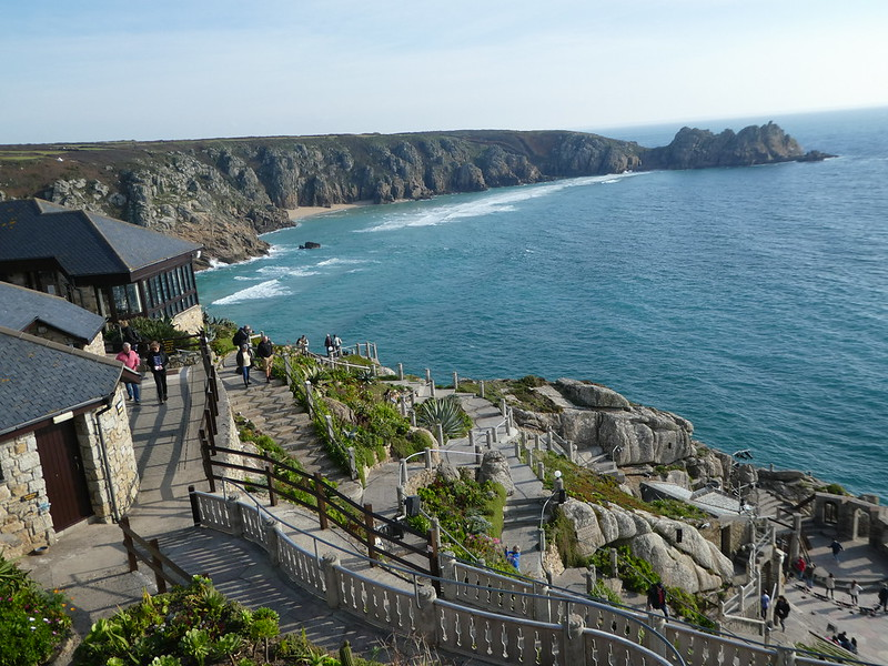 View from the entrance of the Minack Theatre, Porthcurno