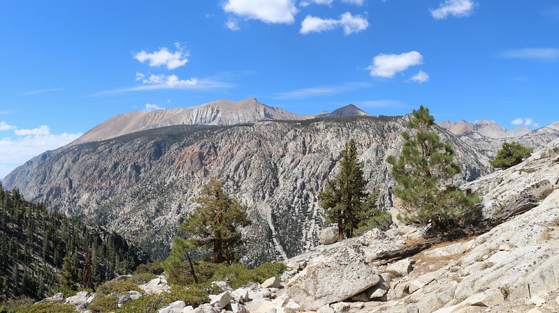 Looking across Kern Canyon from the High Sierra Trail along Wallace Creek