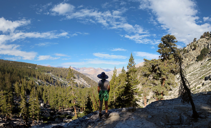 Great views west greeted us as we hiked down Wallace Creek on the High Sierra Trail