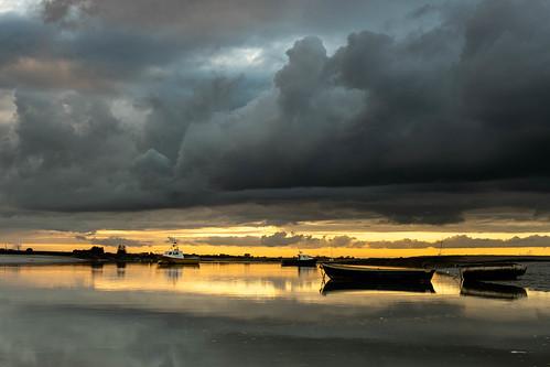 essex leighonsea twotreeisland sunset boats sun riverthames