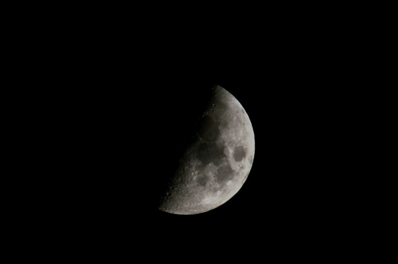 The Moon on 23rd October 2020 - zoom at 500mm with 2x converter