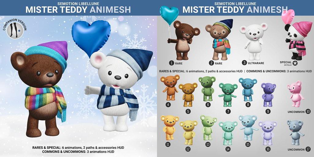 SEmotion Libellune Mister Teddy Animesh