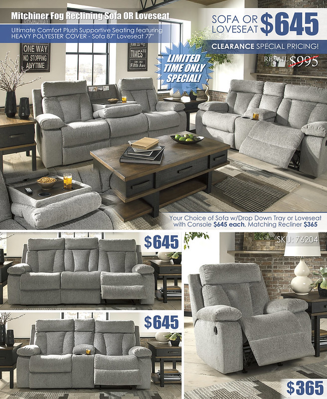 Mitchiner Fog Reclining Sofa OR Loveseat_76204_Limited