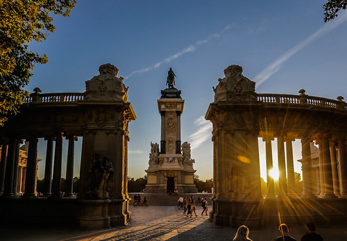 madrid elretiro wideangle sunset flare lensflare