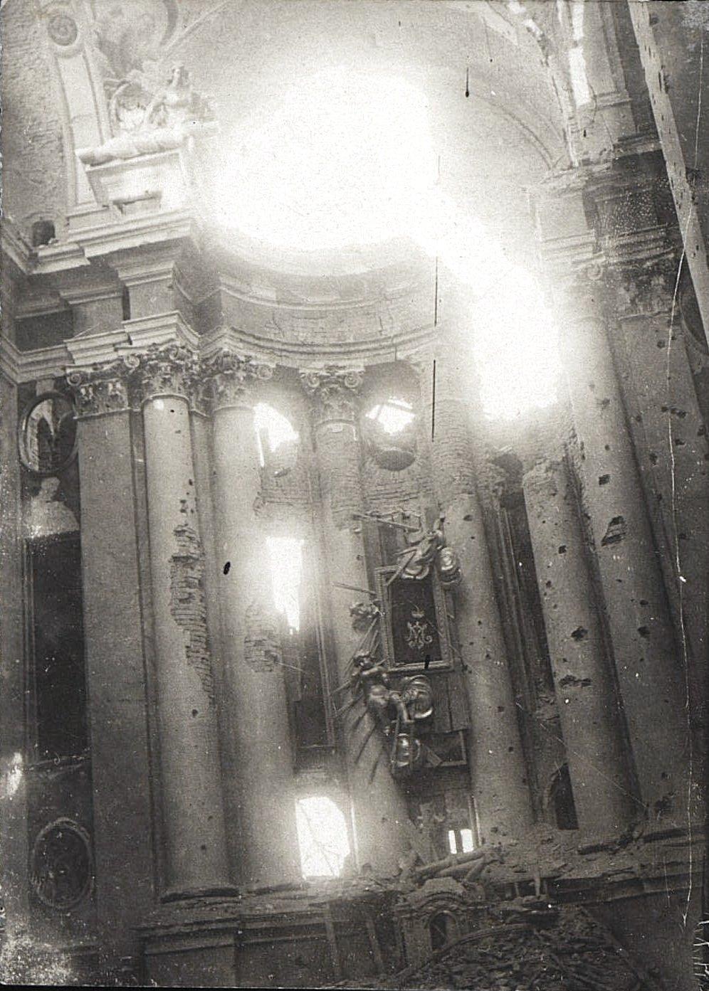 1914. Костёл, разрушенный немцами в начале I Мировой войны.Ракитское  (5)