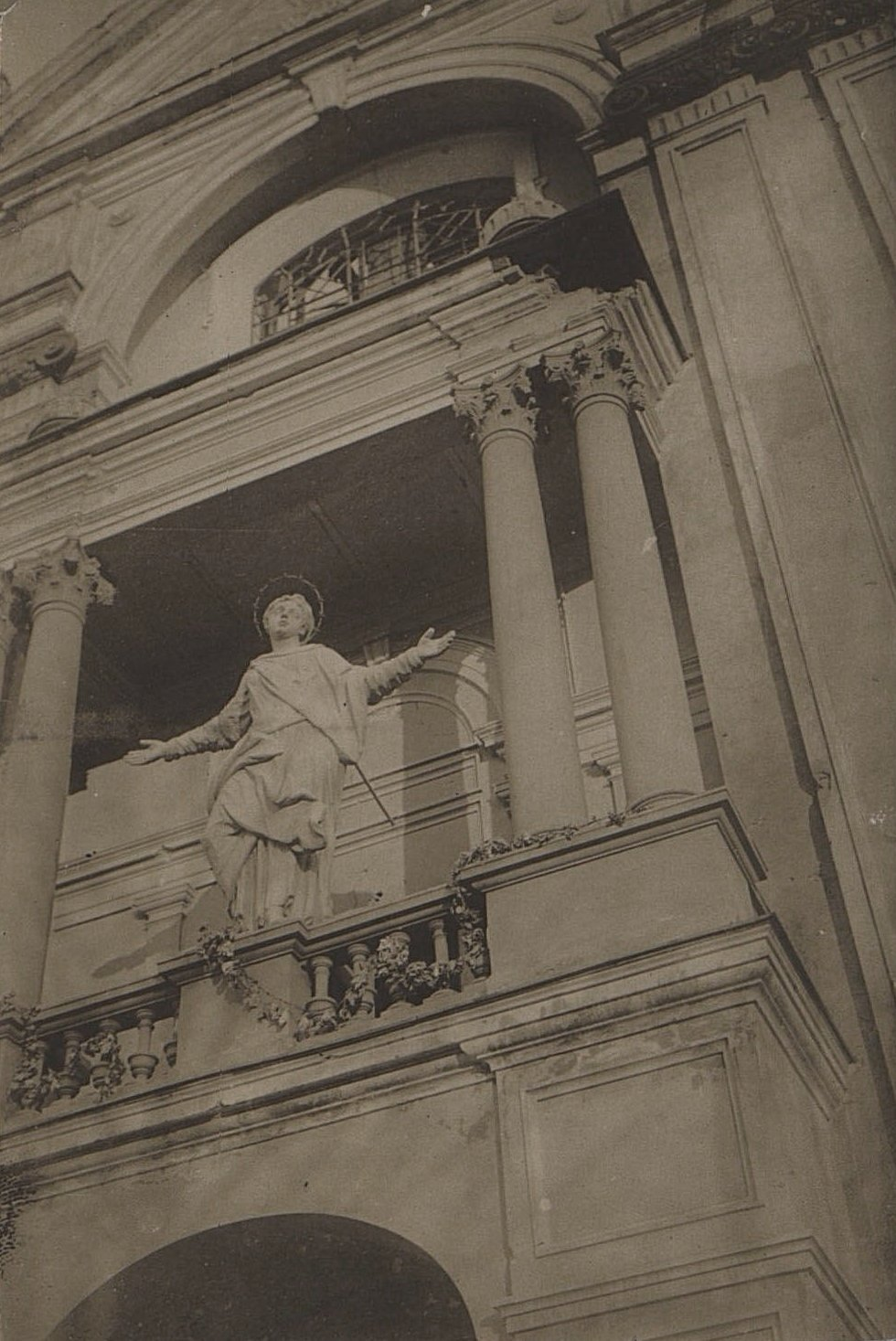 1914. Костёл, разрушенный немцами в начале I Мировой войны.Ракитское  (3)