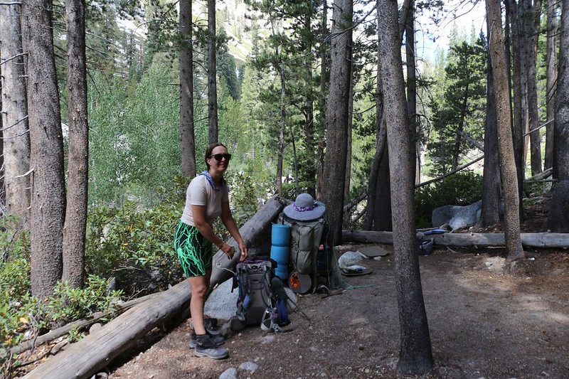 We found a nice camping spot in the shade and had lunch next to the Kern River just north of the trail junction