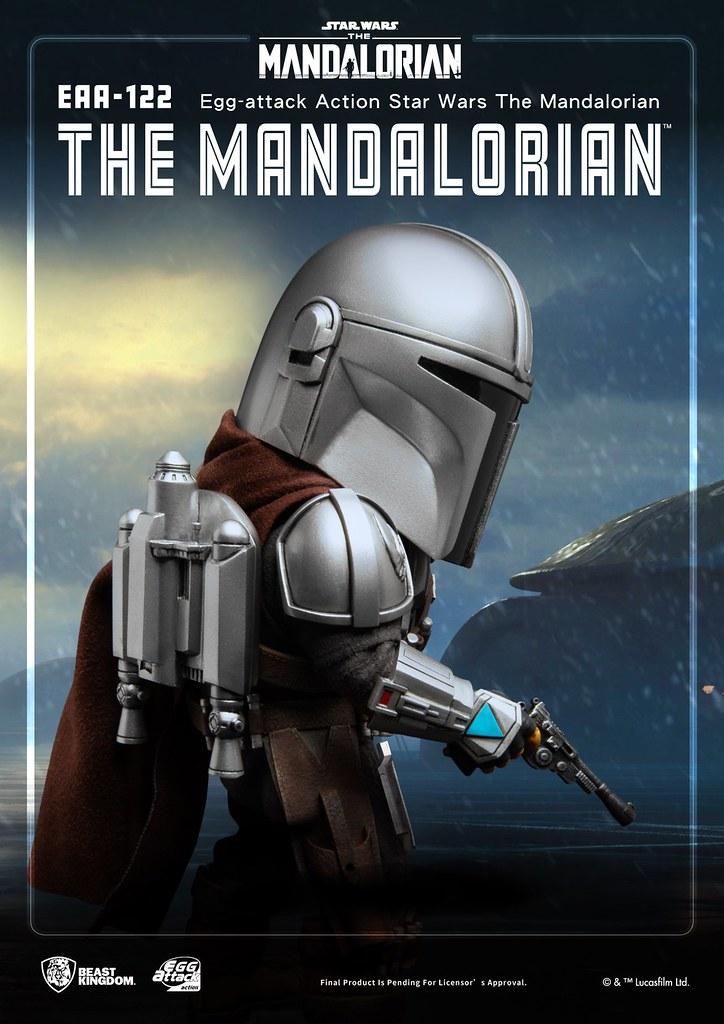野獸國 EAA系列《曼達洛人》「曼達洛人 貝斯卡裝甲版」可動人偶!帶著背袋裡的孩子踏上旅途