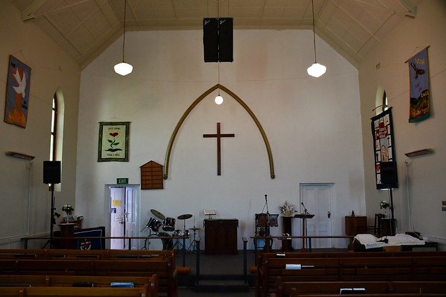 Kingscote interior of the Uniting Church built as Methodist in 1907, Kangaroo Island South Australia
