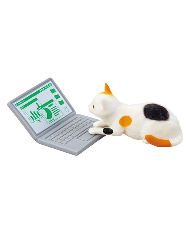 貓奴一定懂!EPOCH「在家工作的搗亂貓」轉蛋又來了 就是不讓你好好工作~