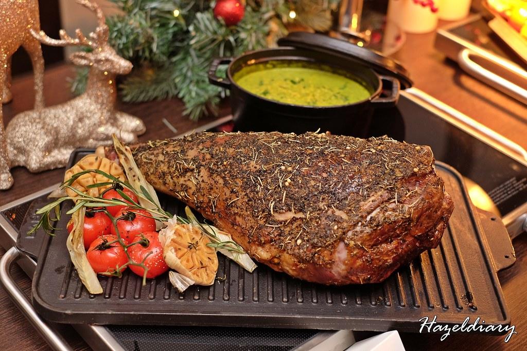 Singapore Marriott Tang Plaza Hotel-Sous Vide mustard mint Roast lamb leg