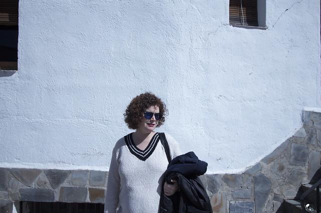 Adriana en la Alpujarra con su mamá.