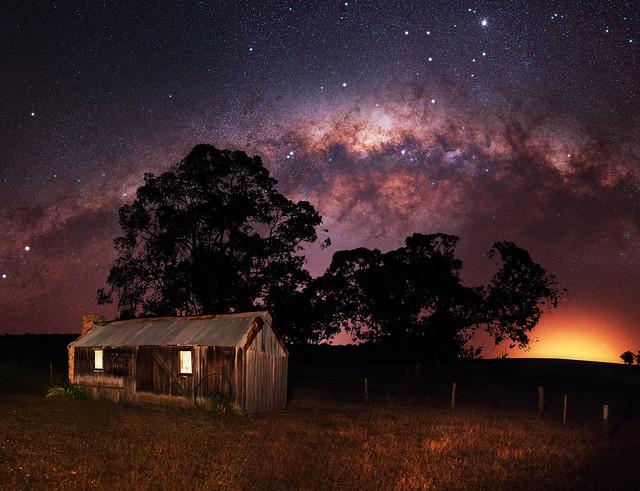 Milky Way over Six Mile Cottage - Darkan, Western Australia
