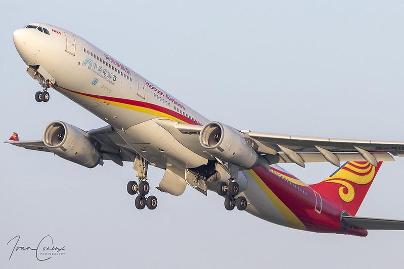 Airbus A330-343 – Hainan Airlines – B-8118 – Brussels Airport (BRU EBBR) – 2020 11 07 – Takeoff RWY 25R – 01 – Copyright © 2020 Ivan Coninx