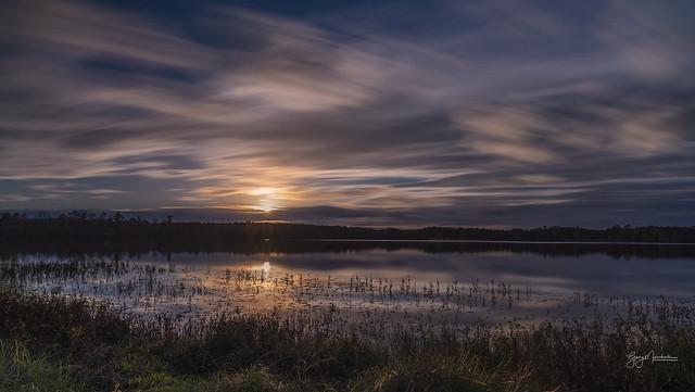A long exposure sunset