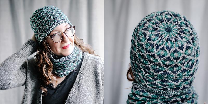 Autonno Hat & Cowl set by Renée Callahan