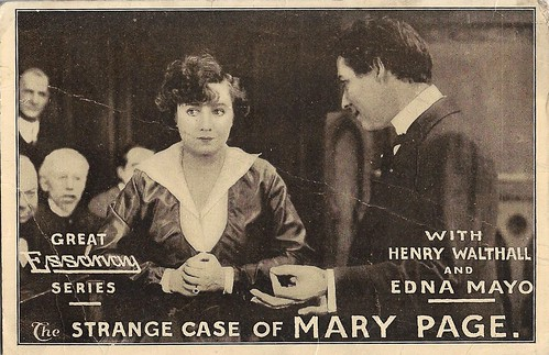 Edna Mayo and Henry Walthall in The Strange Case of Mary Page (1916)