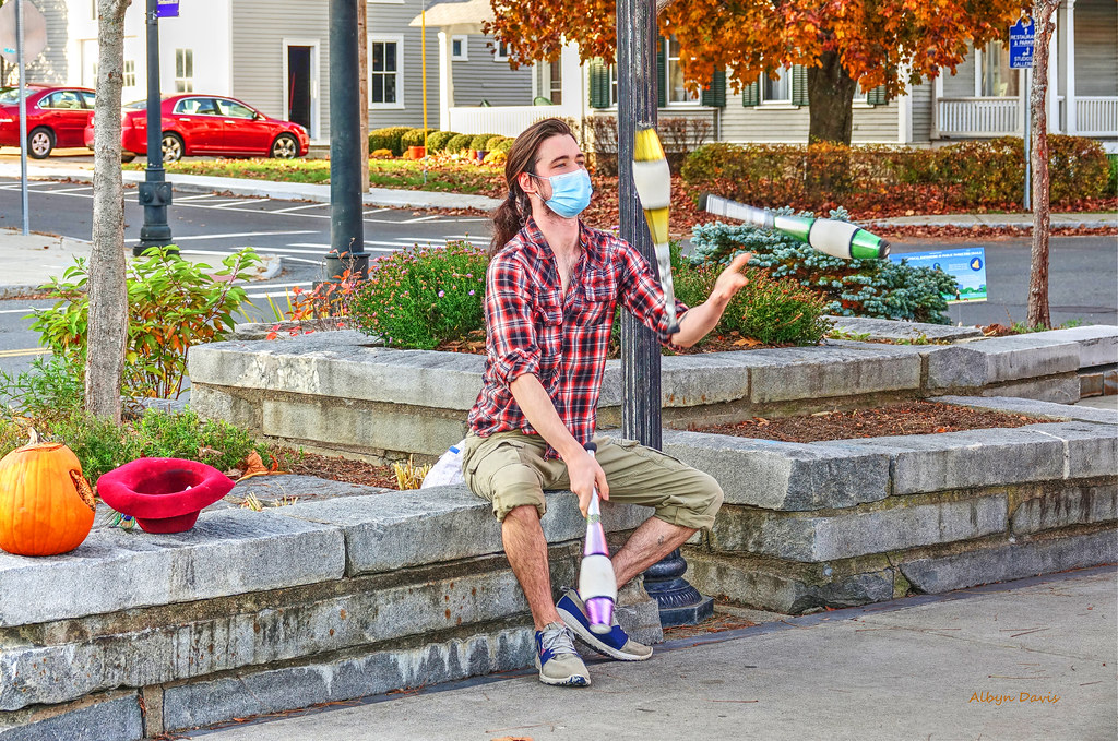 masked juggler