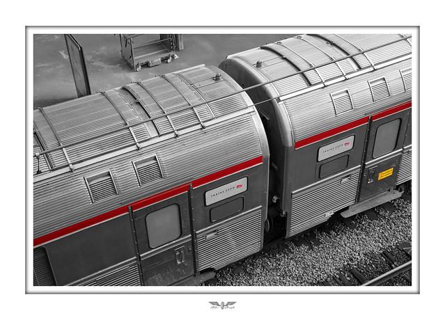 SNCF Trains Expo Evénements - Rame Mistral TEE en gare de Lille Flandres.