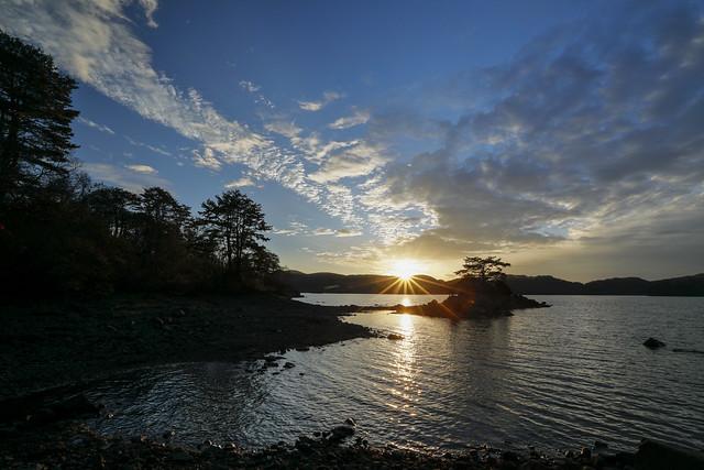 sunset in Hibara Lake