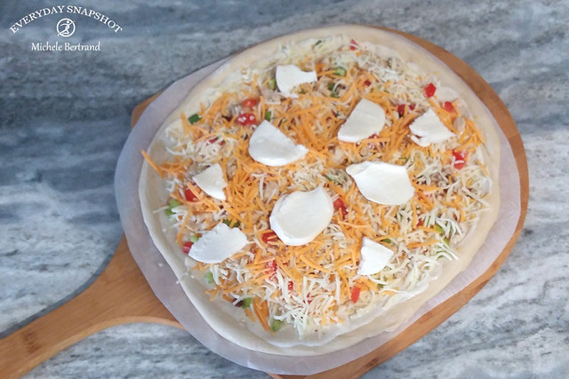 Homemade Garlic Chicken Pizza (2)
