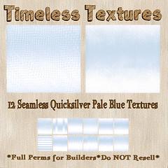 TT 12 Seamless Quicksilver Pale Blue Timeless Textures