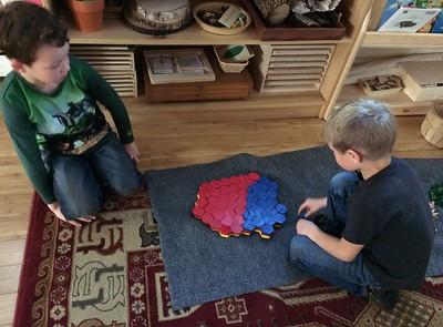 building hexagons