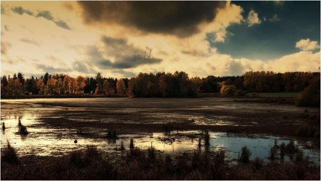 Licht und Schatten einer Landschaft
